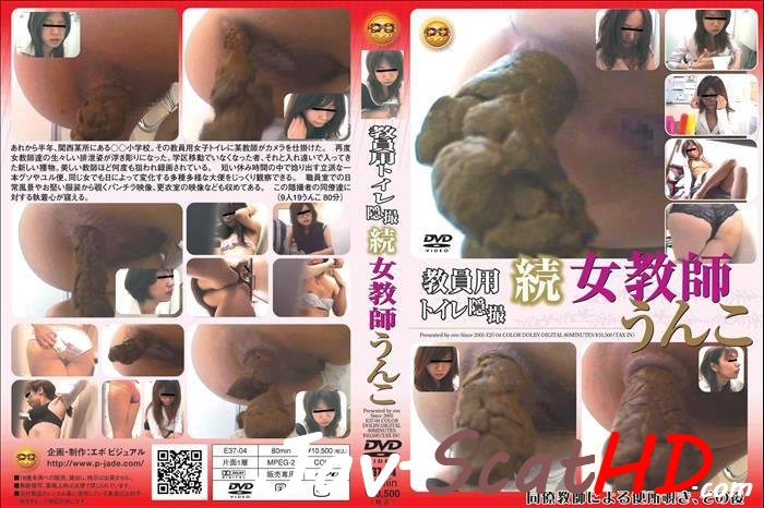 E37-04 Toilet scat Schoolmistress defecated in toilet spycam. Pooping Defecation SD (MPEG-4 / 515 MB)