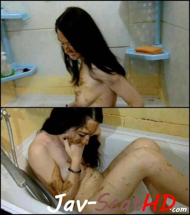[Special #184]  Russian girl covered feces masturbation in bath.  Dirty masturbation FullHD 1080p (MPEG-4 / 1.02 GB)