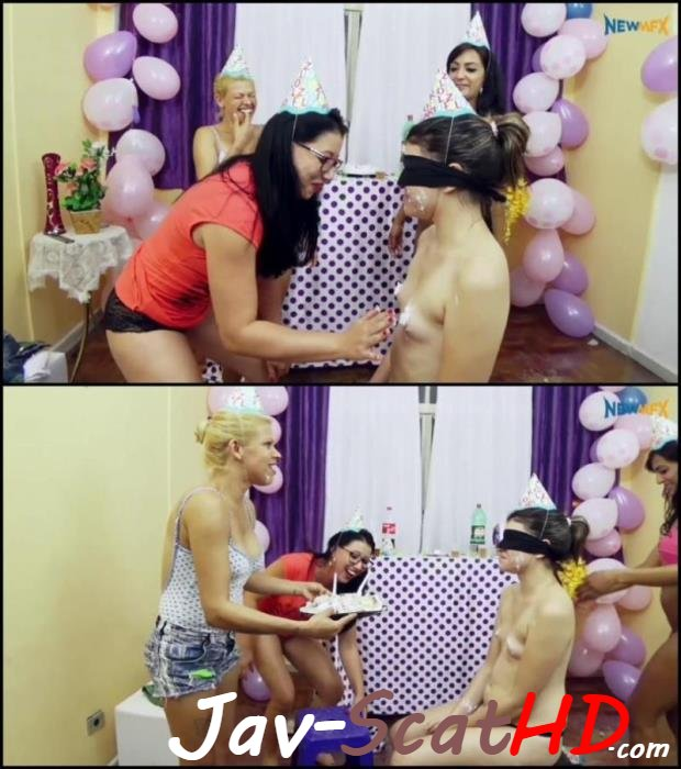 [Special #235] Shit in mouth Scat surprise on birthday party. Lesbian-piss Coprophagy lesbians FullHD 1080p (MPEG-4 / 2.91 GB)