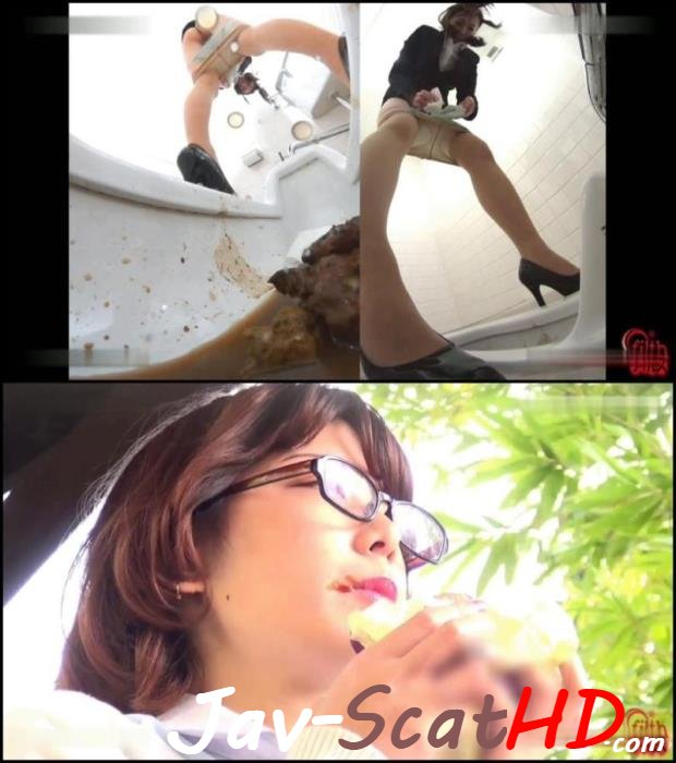BFFF-70 Poop in public toilet Pooping long turd in toilet after food. Food Defecation FullHD 1080p (MPEG-4 / 859 MB)