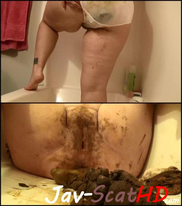 [Special #579] Pantypoop BBW Samantha poop in satin panties and dirty scat play. Jav Scat Big pile FullHD 1080p (MPEG-4 / 1.58 GB)